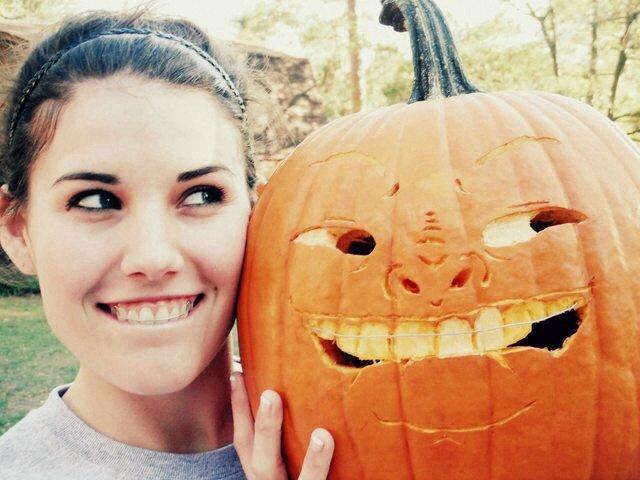 Pumpkin selfie. .