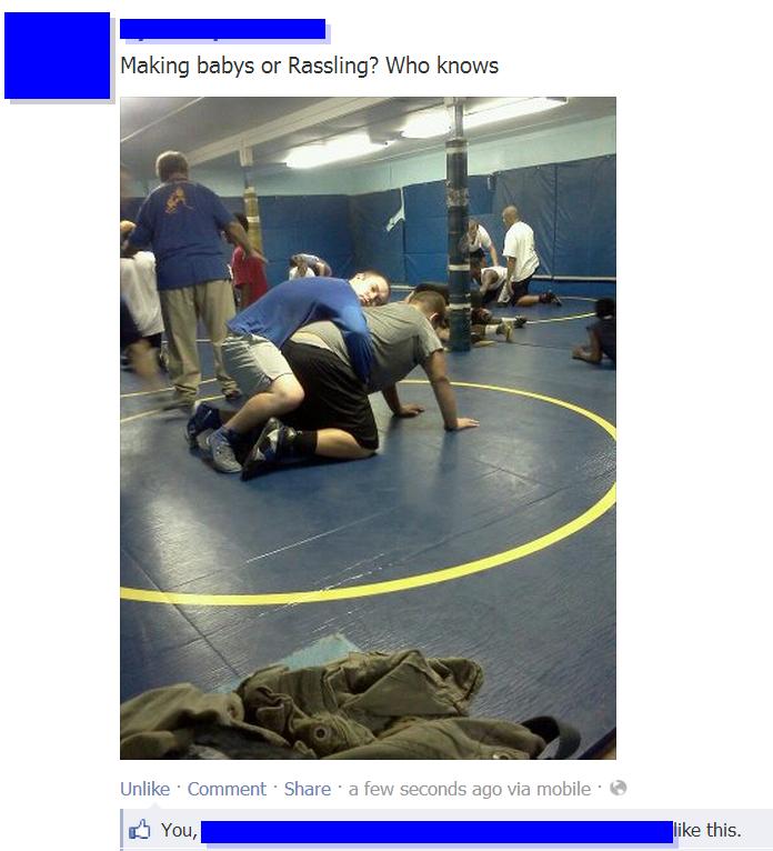 RASSLING!!!. Found this on facebook lol.