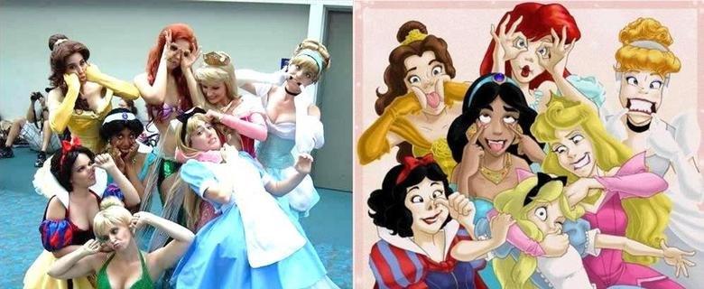 Real Life Disney Princessess. .. TINKERBELL! GTFO!