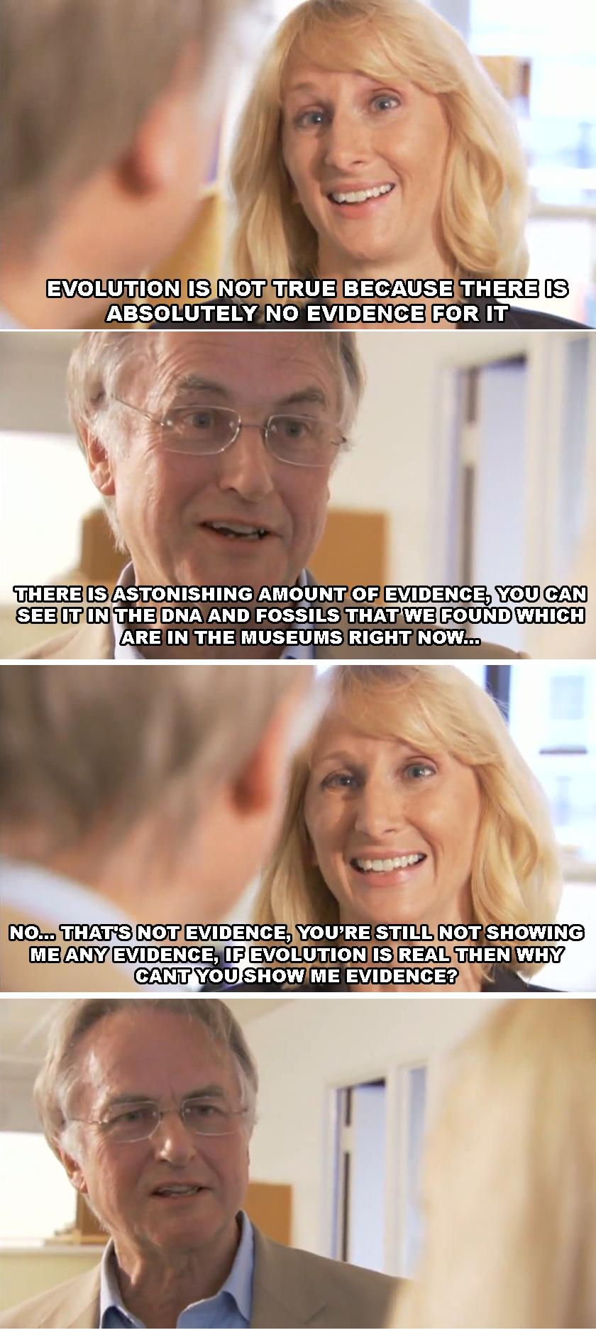 Richard Dawkins. www.youtube.com/watch?v=YFjoEgYOgRo.