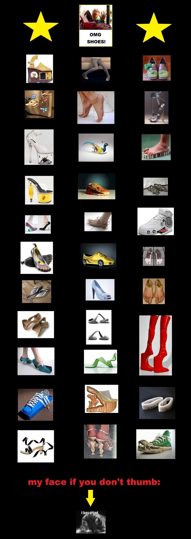 Ridiculous Shoe Compilation. hide yo kids, hide yo wife..... Meanwhile in Lady Gaga's shoe closet...