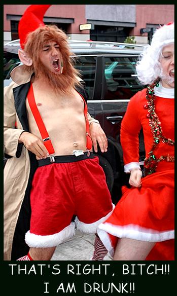 Santa Drunk. .