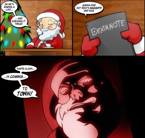 santa is the new light. . EMT HEW} HEREIN?