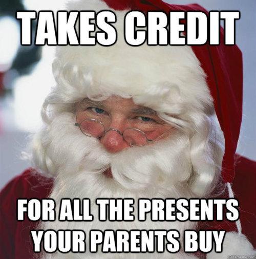 Scumbag Santa. true dat.