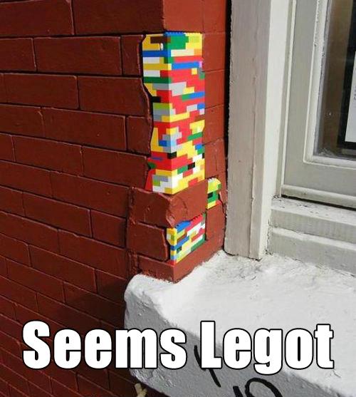 Seems legot. .