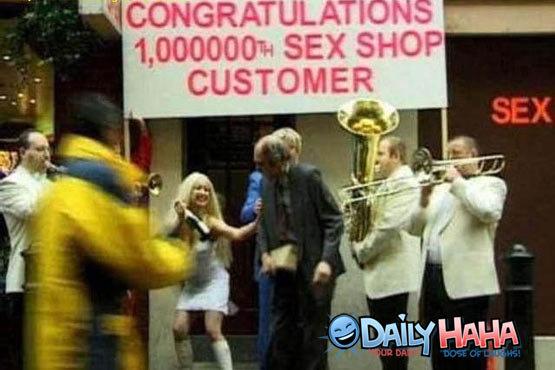 Sex Shop Customer. lol old guy. ill sax SHOP CUSTOMER