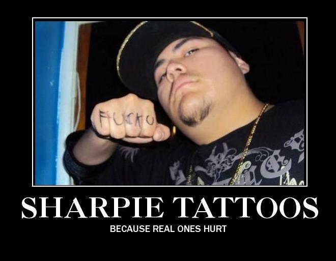 Sharpie Tattooes. Stan Kingzton.. Not really. :D