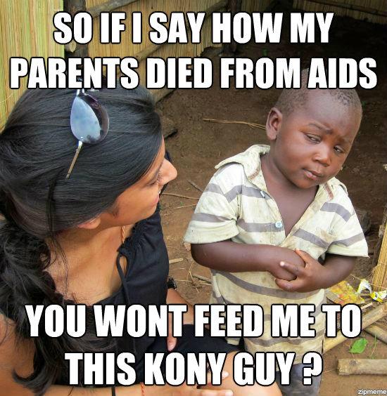 skeptical 3rd world child. .