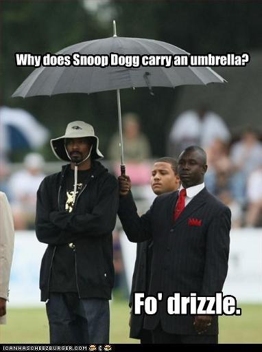 Snoop Dog. . isetta, viii' ii' my carry 'viii umbrella?. ahh clever.... very enjoyable :P