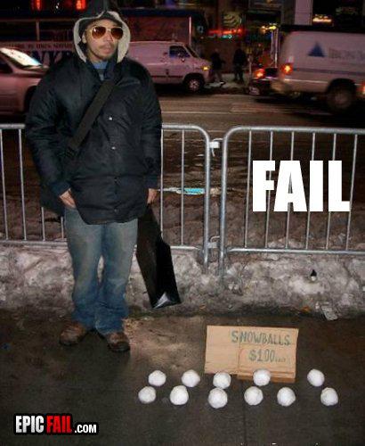 snowball fail. .. you gotta admit he's one crafty cocaine dealer