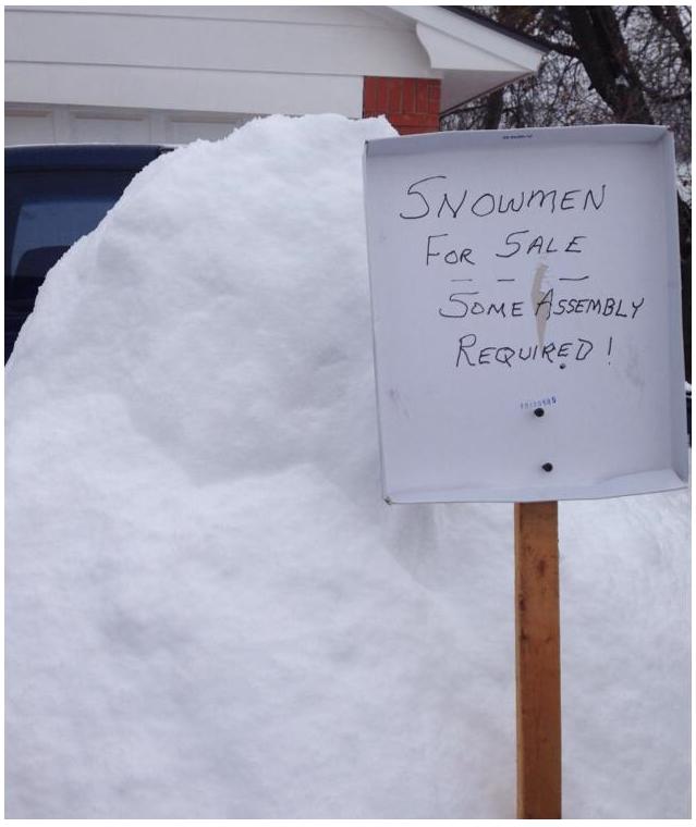 Snowman For Sale. . M fl. eahs trial '