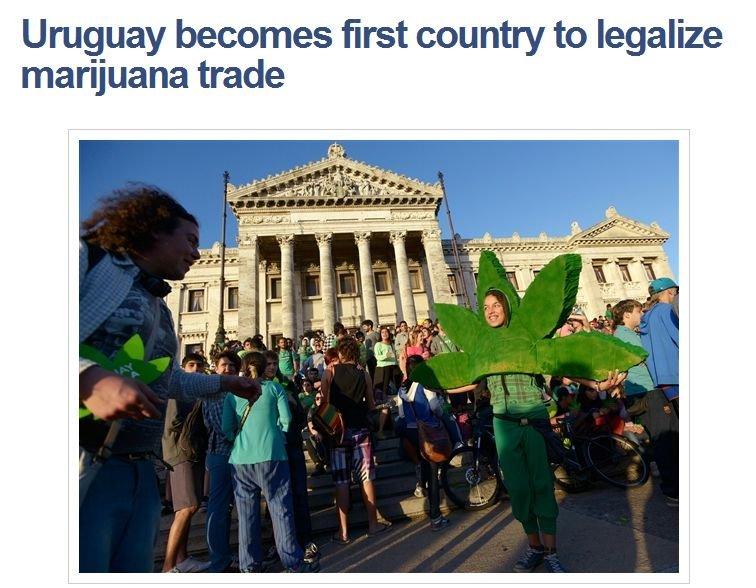 Some of you might want to know.... Source: worldnews.nbcnews.com/_news/2013/12/10/21852934-uruguay-becomes-first-country-to-legalize-marijuana-trade?lite. Urugu