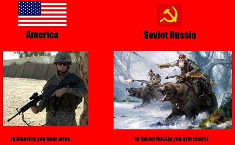 Soviet Russia vs America. BEAR CALVARY. i Ir I I i Ir I I. Bear cavalry would be so badass.