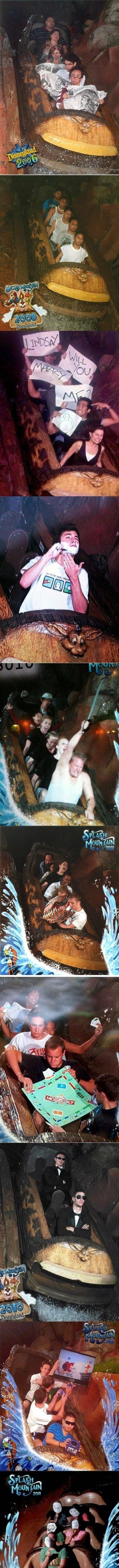 Splash Mountain comp.. funny pictures from Disneyland's Splash Mountain.. OMG =O