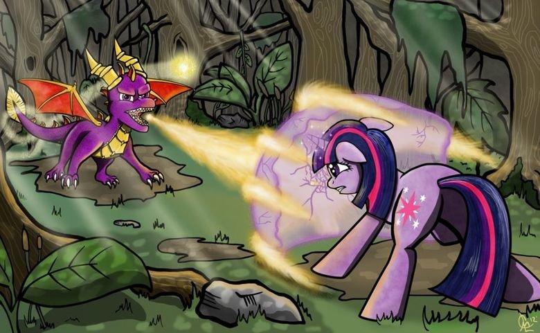 Spyro. What are you doing?.. Spyro> Twilight Sparkle