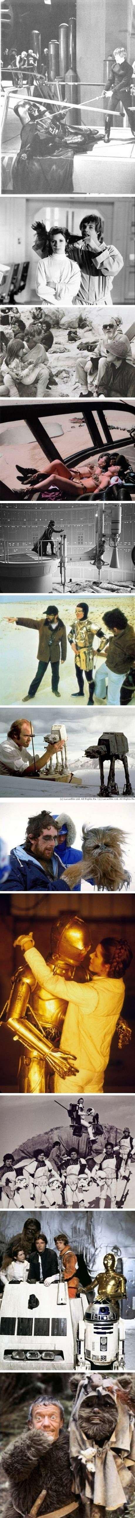 Star Wars Behind the Scene (see desc). .. heres another, liea handing luke a beer