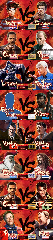 Street Fighter 4 Screens. .. Spoiler on this one: Hitler kilss Hitler