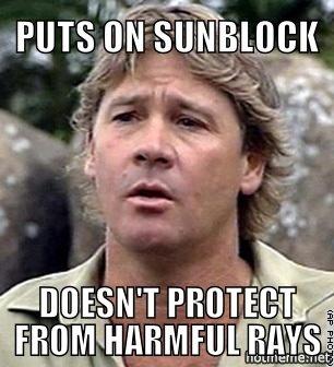 Sunblock. .. Too soon
