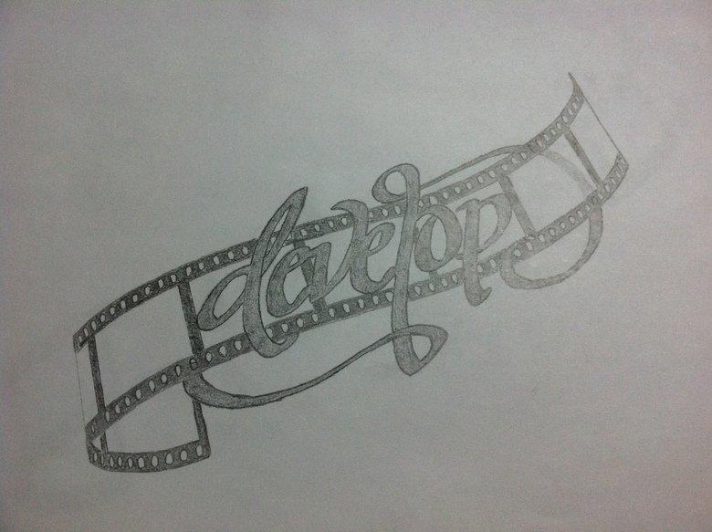 tattoo- develop. the tattoo im getting. i designed and drew myself.. TRACED