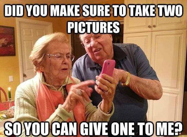tech grandparents. .. My grand parents.