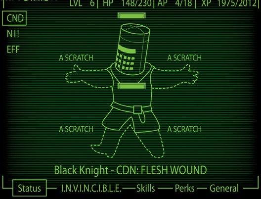 The black knight. . f ts Black Knight - CDN: FLESH WOUND Perks - General L