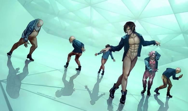 Titans on the dance floor. Art by yuumei http://yuumei.deviantarm/.