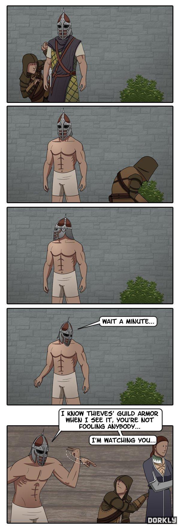 To Catch a Skyrim Thief. from Dorkly. rti' MIE