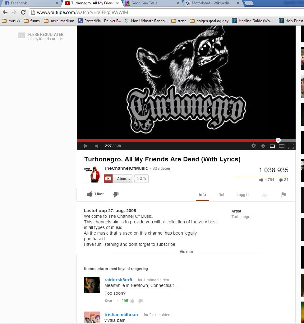 too soon. youtube.