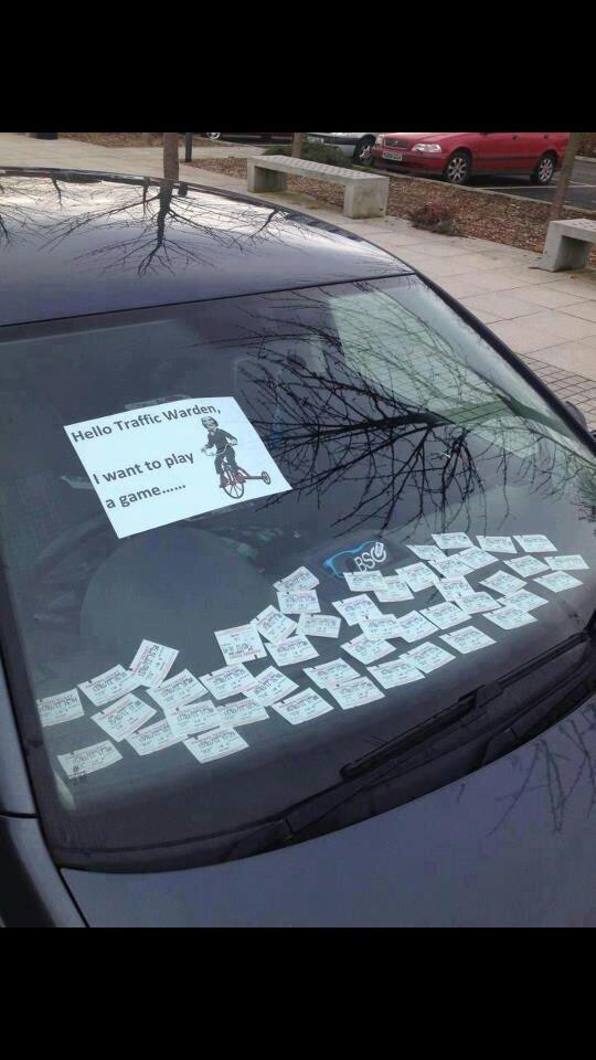 Trolling Mr. Traffic Warden. Bananapancake... Re-Post