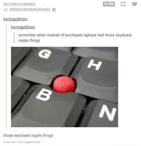 tumblr. . instead laptops had those keyboard nipple things those keyboard nipple mings inturn: -3: . Lolitas