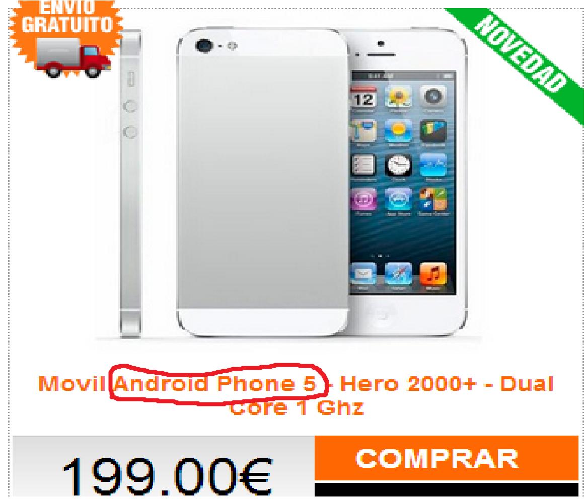 U serious?. Retarded adverts.. Anvil ' Fhane 5 Hart: .' - Dual. It's a clone phone from Hong Kong, tardmonkey.