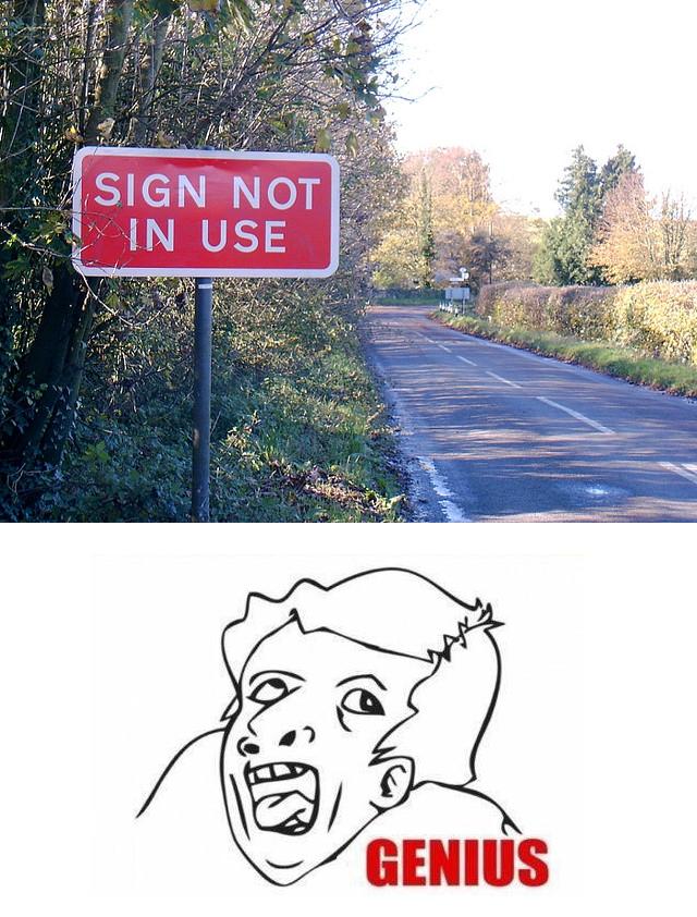 useful sign. description.