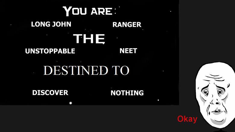 well shit.... . LONG JOHN RANGER THE UNSTOPPABLE NEET Tnc) DISCOVER NOTHING. Joe