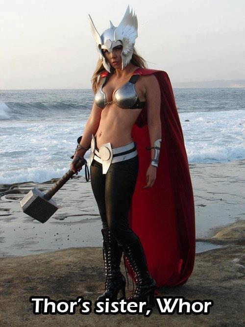 Whor. . Thor' s sister, IX/ hor. False his sisters name is Freya