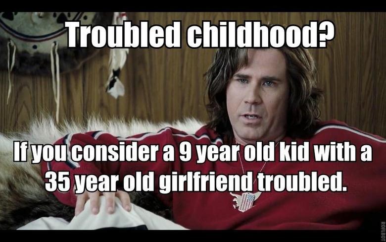 Will Ferrel . . rrain) min childhood?