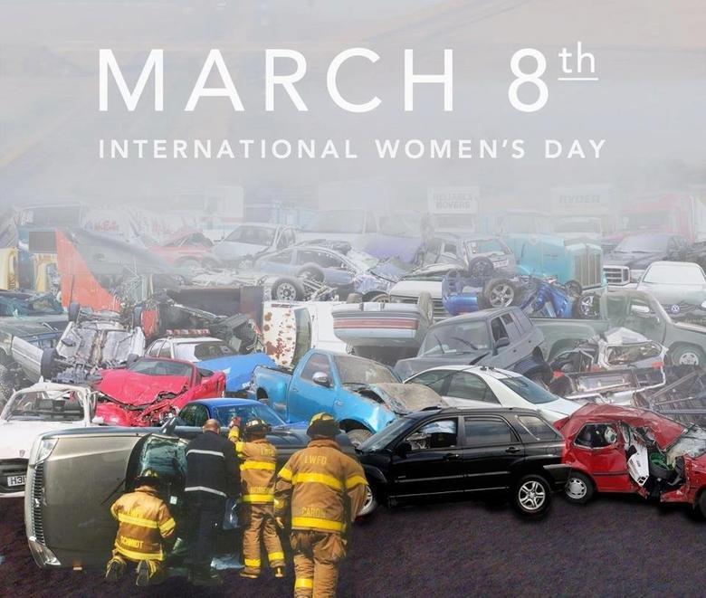 Women's day. .. When women drive <