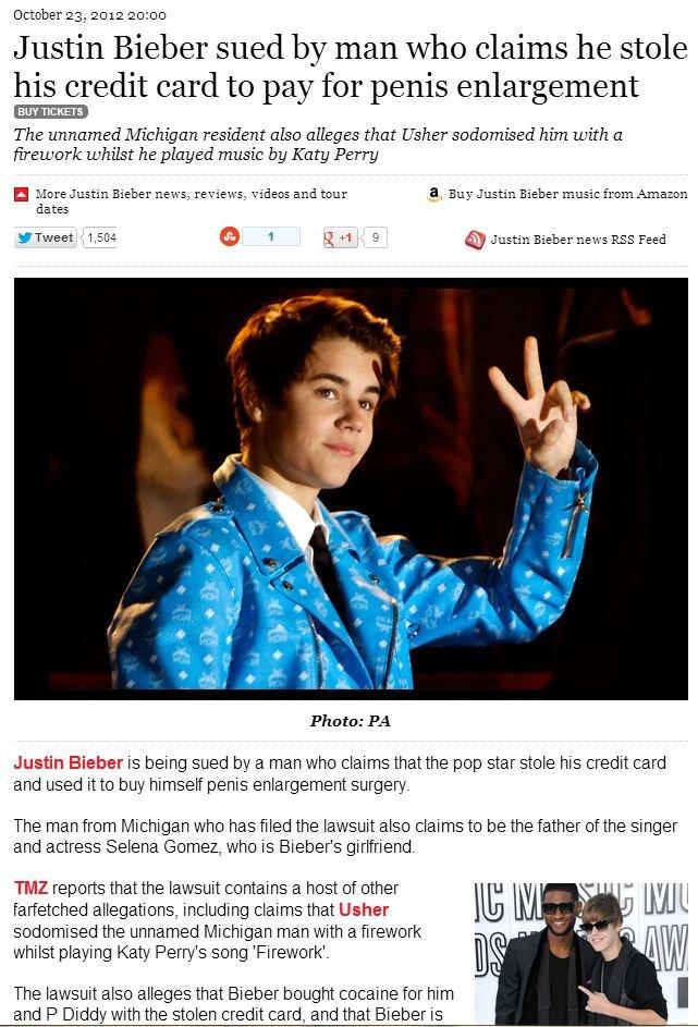wut. source: www.nme.com/news/justin-bieber/66785?utm_source=fanpage&utm_medium=social&utm_campaign=fanpage-lawsuit. October 23, 2012 20: 00 Justin Bieb