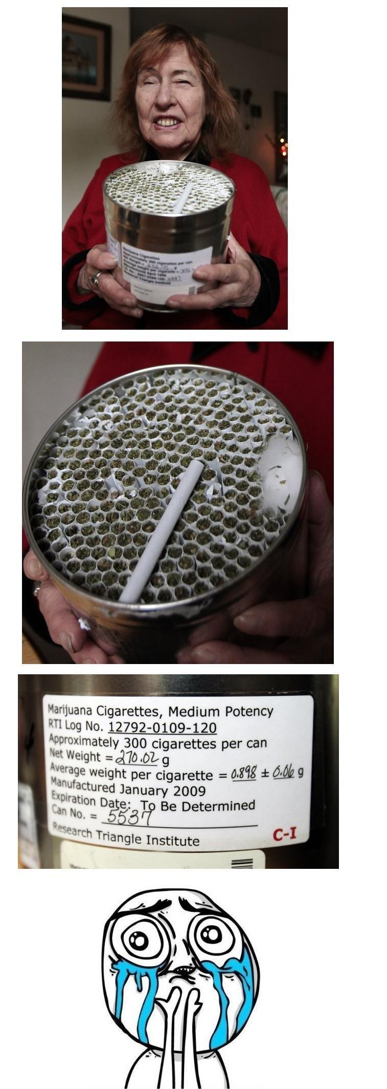 Yesterday. Today. marijuana Cigarettes, Medium Potency approximated