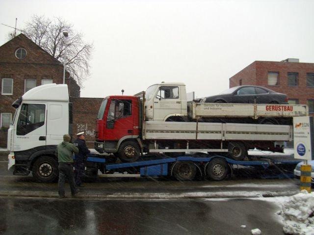 Yo dawg....... I heard you like to steal vehicles.. Does the biggest trucks tyre look flat?