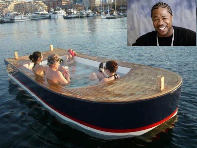 yo dawg. Pimp my boat.. a swimming pool in a swimming pool in the ocean