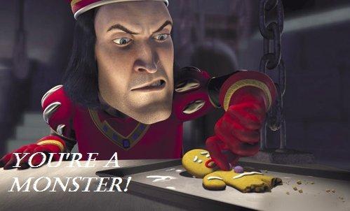 You're a monster. .. not the button not the gumdrop button