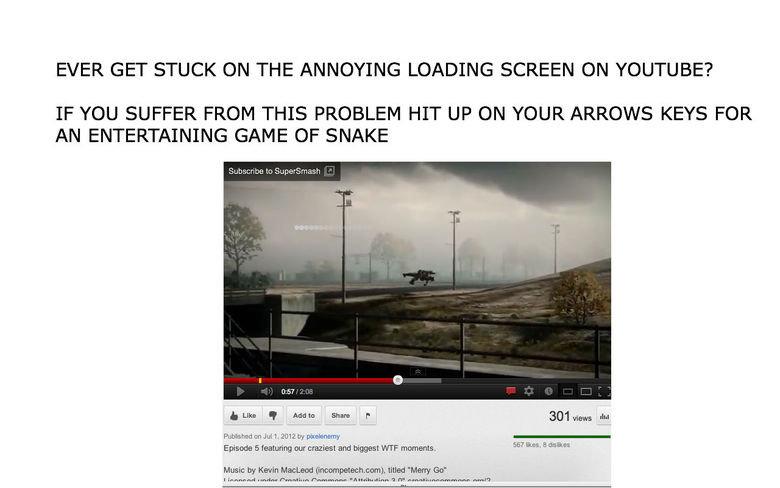 Youtube Snake. .