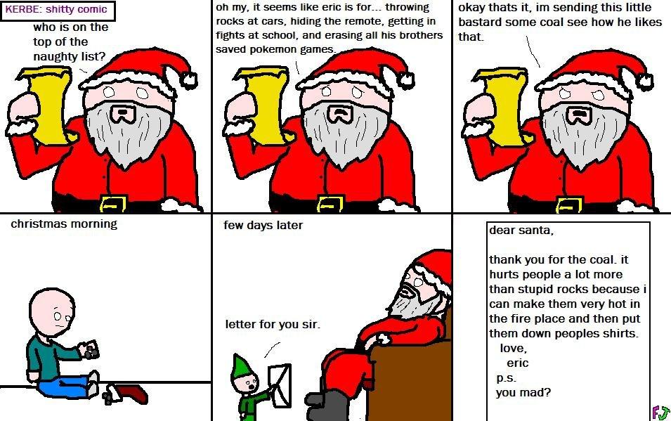 shitty christmas comic: naughty list
