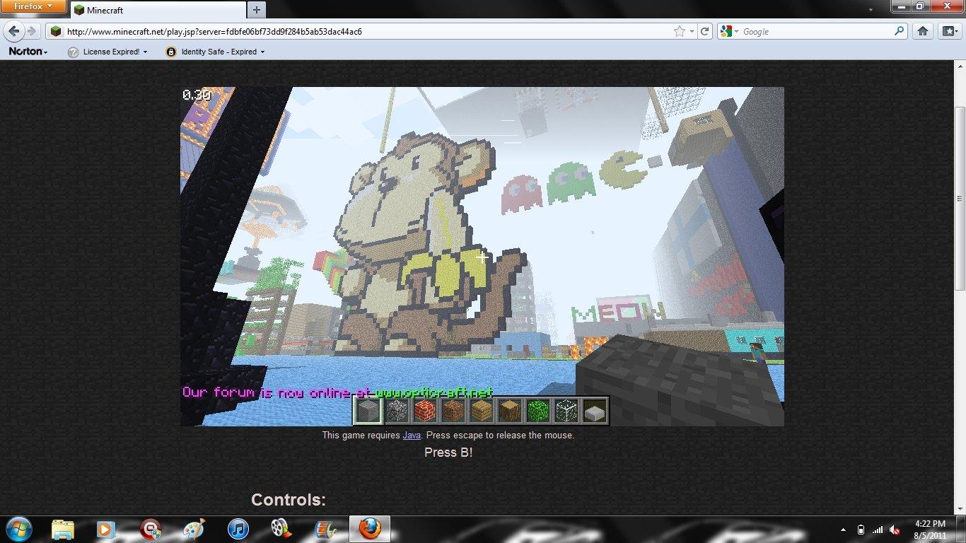 minecraft monkey