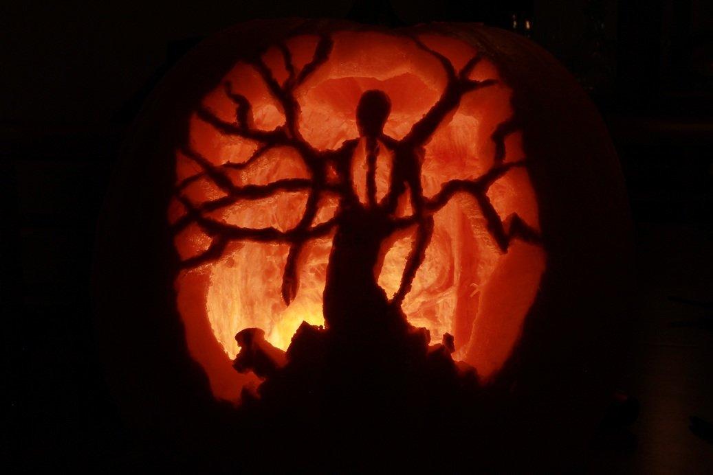 slenderman pumpkin rh funnyjunk com