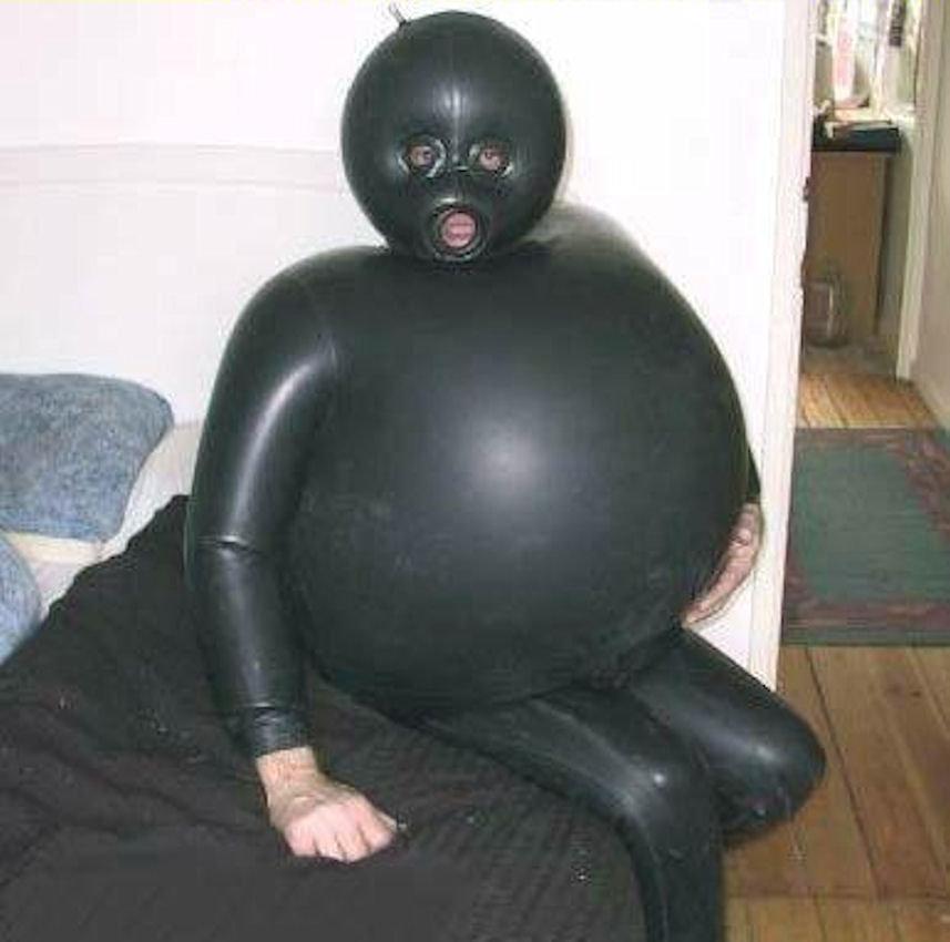 Image result for blow up gimp suit