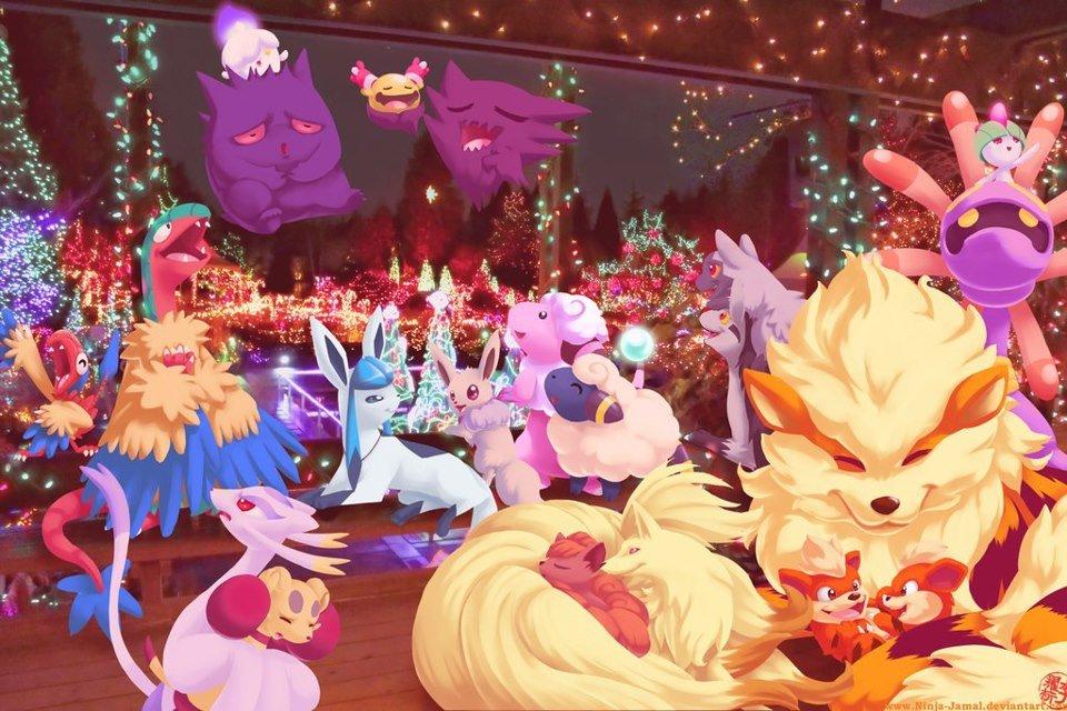 Pokemon Christmas.Pokemon Christmas Party