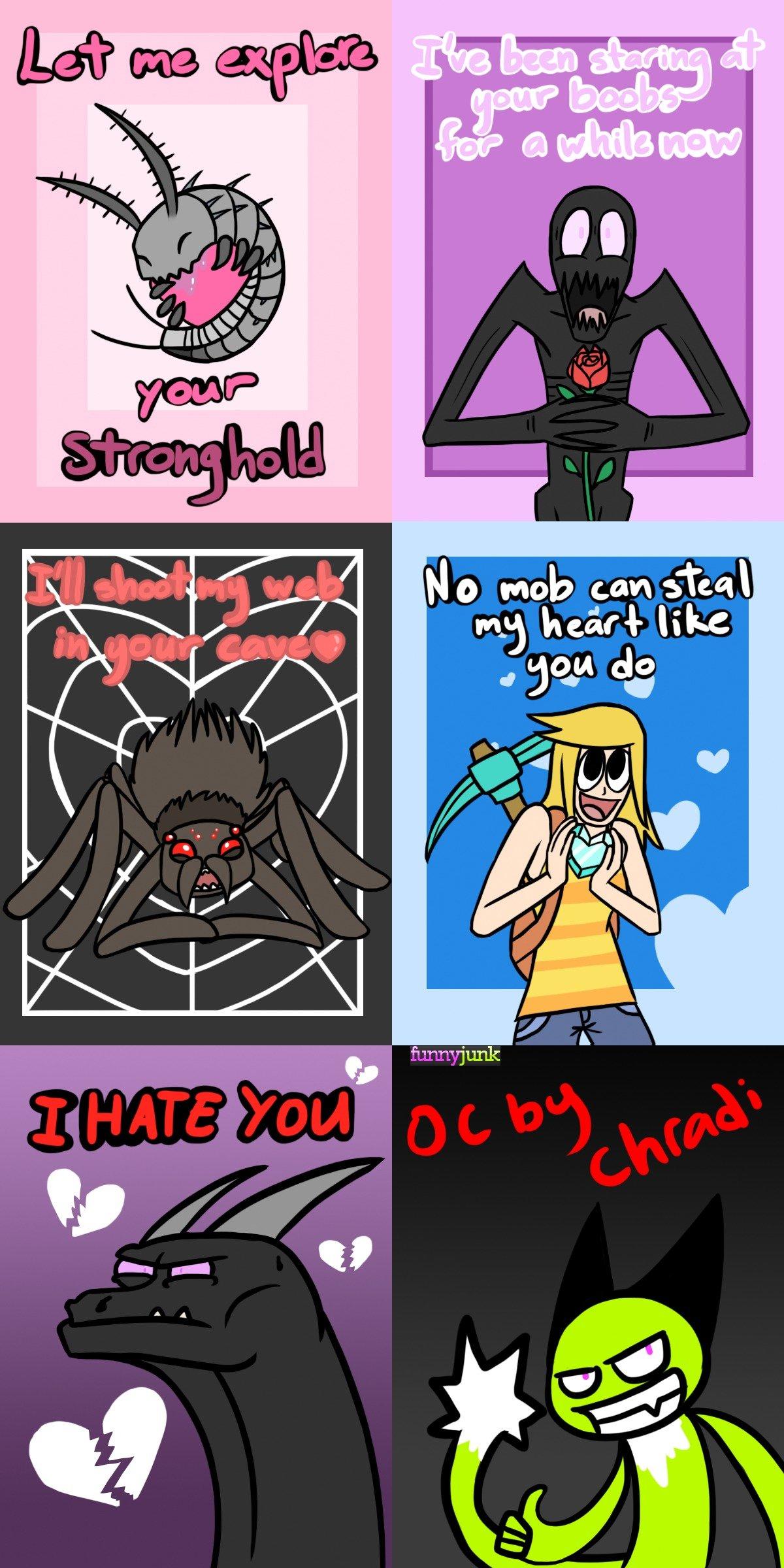Minecraft Valentine Cards Part 2