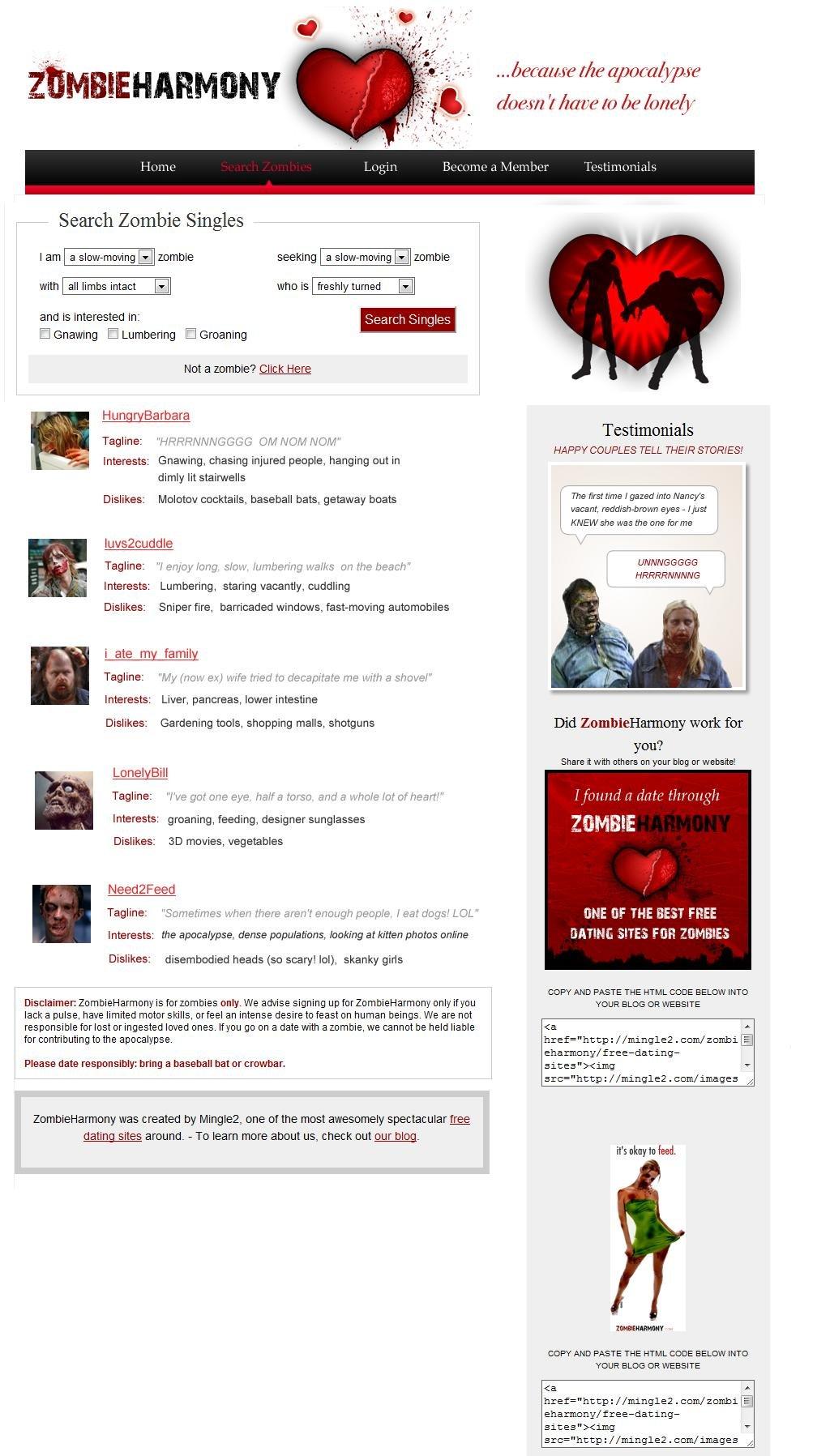 Zombies Dating-WebsiteGeschwindigkeit datieren cheltenham alle bar eins