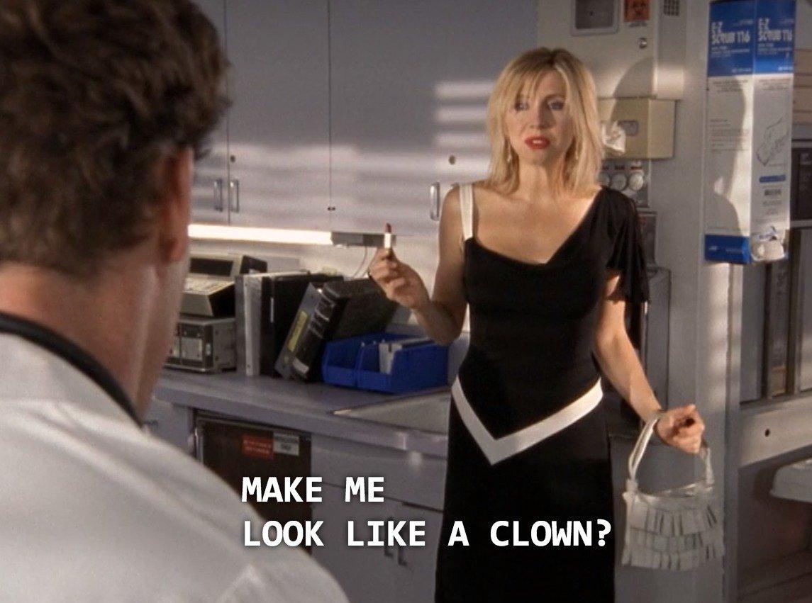 клоунами на которая похожа ты дает только проститутку